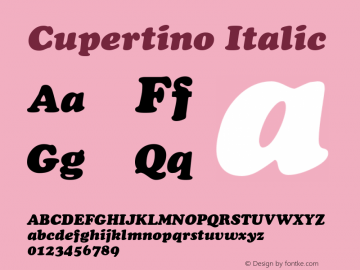 Cupertino Italic 1.0 Wed Nov 18 00:14:05 1992图片样张