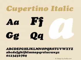 Cupertino Italic 001.003 Font Sample
