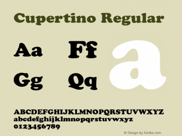 Cupertino Regular 001.003 Font Sample