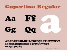 Cupertino Regular 001.003 Font Sample