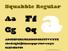 Squabble Regular Version 1.0图片样张