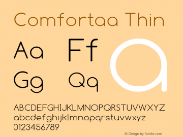 Comfortaa Thin Version 1.001 2008 Font Sample