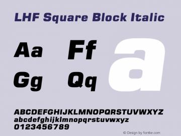 LHF Square Block Font,LHF Square Block Italic Font,LHFSquareBlock