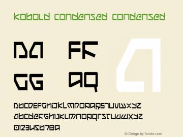 Kobold Condensed Condensed 001.000 Font Sample