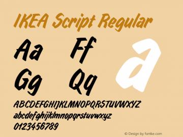 IKEA Script Regular Version 1.00图片样张