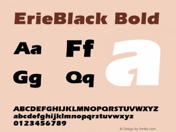 ErieBlack Bold 1.0 Wed Nov 18 00:44:17 1992 Font Sample