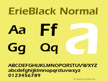 ErieBlack Normal 1.0 Wed Nov 18 00:45:40 1992 Font Sample