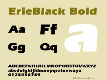 ErieBlack Bold 001.003 Font Sample