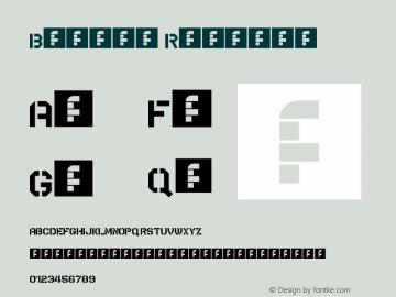 Bridge Regular Version 1.0 Font Sample