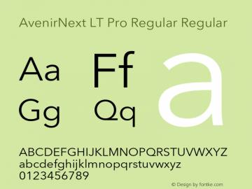 AvenirNext LT Pro Regular Regular Version 1.100;PS 001.001;hotconv 1.0.38 Font Sample