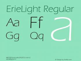ErieLight Regular v1.0c Font Sample