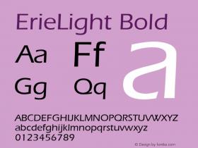 ErieLight Bold v1.0c Font Sample