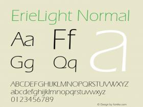 ErieLight Normal 1.0 Wed Nov 18 00:48:28 1992 Font Sample