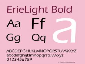 ErieLight Bold 1.0 Wed Nov 18 00:47:04 1992 Font Sample