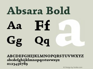 Absara Bold 004.460 Font Sample