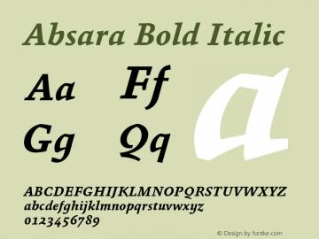Absara Bold Italic 004.460 Font Sample