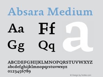 Absara Medium 004.460 Font Sample