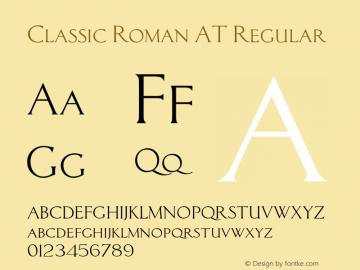 Classic Roman AT Font,ClassicRomanAT Font Classic Roman AT