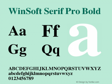 winsoft serif pro medium