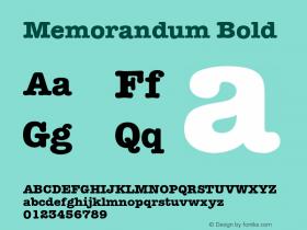 Memorandum Bold 001.003 Font Sample