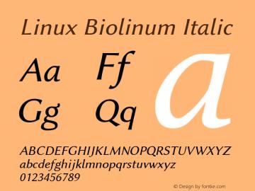 Linux Biolinum Italic Version 1.1.0图片样张
