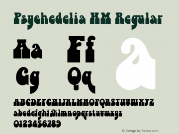 Psychedelia HM Regular Version 2.0 2010 Font Sample