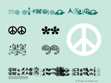 60s Symbols Regular Version 1.00 May 12, 2009, initial release Font Sample