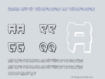 Yama Moto Condensed 3D Condensed 001.000 Font Sample
