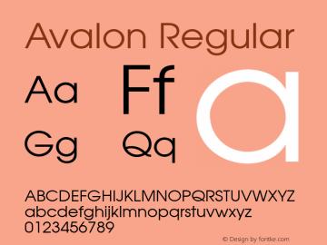 Avalon Regular 001.003 Font Sample