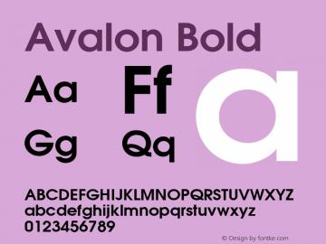 Avalon Bold 001.003 Font Sample