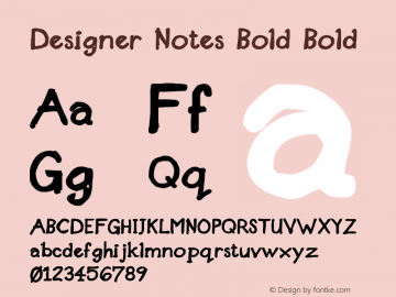 Designer Notes Bold Bold 001.000 Font Sample
