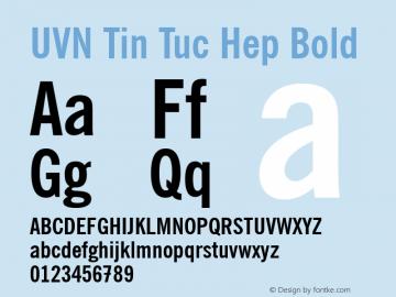 UVN Tin Tuc Hep Bold 0.8 March 2001. Bo Chu Tieng Viet图片样张