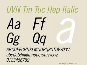 UVN Tin Tuc Hep Italic 0.8 March 2001. Bo Chu Tieng Viet图片样张