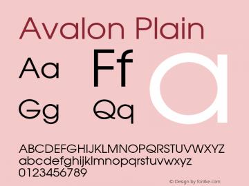 Avalon Plain 001.003 Font Sample