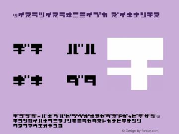 ZerozeroNineKt Regular Macromedia Fontographer 4.1J 08.7.3图片样张