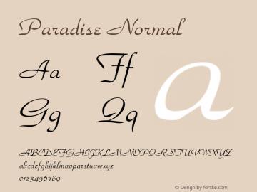 Paradise Normal 1.0 Wed Nov 18 11:37:50 1992 Font Sample