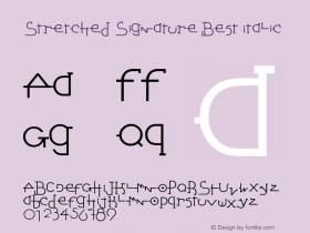 Stretched Signature Best Italic Version 2.90 December 5, 2009图片样张