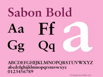 Sabon Bold Version 001.000 Font Sample