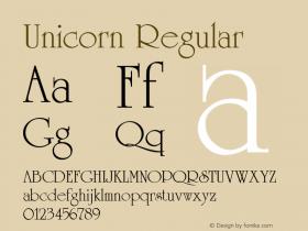 Unicorn Regular v1.0c Font Sample