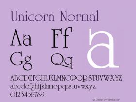 Unicorn Normal 1.0 Wed Nov 18 14:01:48 1992图片样张