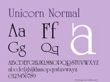 Unicorn Normal 1.0 Wed Nov 18 14:01:48 1992 Font Sample