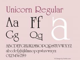 Unicorn Regular 001.003 Font Sample