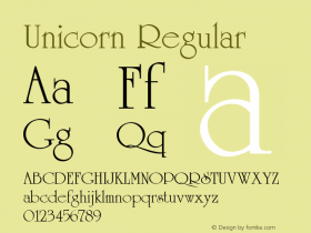 Unicorn Regular 001.003图片样张
