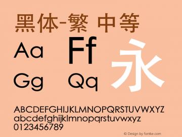 黑体-繁 中等 7.0d17e1 Font Sample