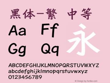 黑体-繁 中等 7.0d12e2 Font Sample