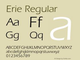 Erie Regular v1.00 Font Sample