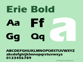 Erie Bold v1.00 Font Sample