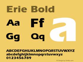 Erie Bold 1.0 Wed Nov 18 00:43:03 1992 Font Sample