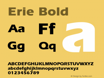Erie Bold 1.0 Wed Nov 18 00:43:03 1992 Font Sample
