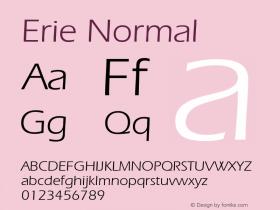Erie Normal 1.0 Wed Nov 18 00:49:58 1992 Font Sample
